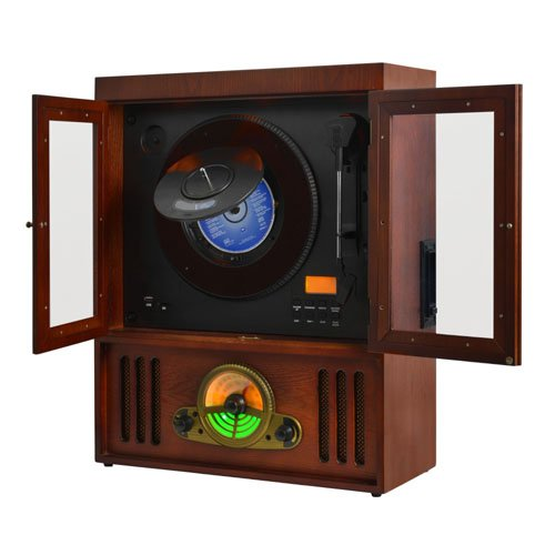 Majestic TT 40 Turntable Vertical, CD / TP / USB / SD, Brown