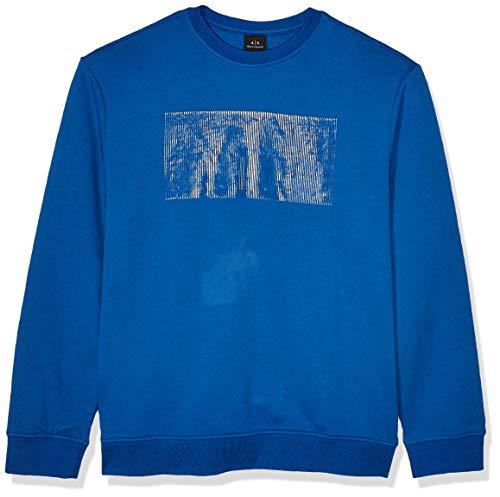 Armani Exchange Heren Katoen/Polyester Fleece Trui Met Doos Ax Borst Logo Sweatshirt