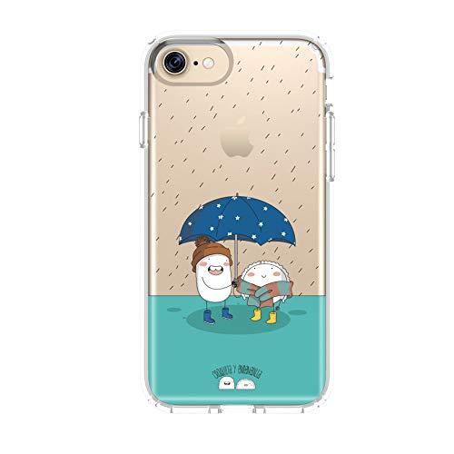 Croqueta y Empanadilla Funda Smartphone - Diseño Original Lluvia Apple Iphone 7 / 8