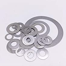 Ochoos 100Pcs Thickness 0.2mm Flat Washer Ultrathin Gasket Thin Shim Washers Stainless Steel 304 M3 M4 M5 M6 M8 M10 M12 M14 M16 M18 M20 - (Inner Diameter: 6mm, Outer Diameter: 12mm)