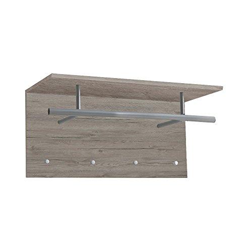 FMD furniture Wandgarderobe, Melaminharz beschichtete Spanplatte, ca. 72 x 34,5 x 29,3 cm