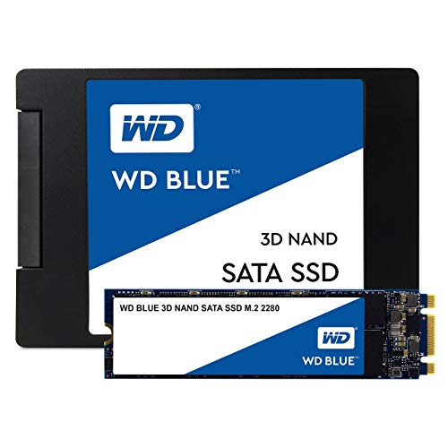 WD Blue 3D NAND SATA SSD M.2 2280 1 TB, 2,5 Zoll (interne SSD, hohe Zuverlässigkeit, Lesevorgänge bis zu 560 MB/s, Schreibvorgänge bis zu 530 MB/s, stoßsicher und WD F.I.T. Lab-zertifiziert)