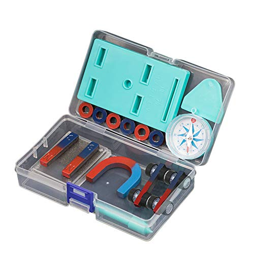 Science Magnet Set, Kinder Science Bar Ring Hufeisen Kompass Magnet Car Kit Experiment Tools