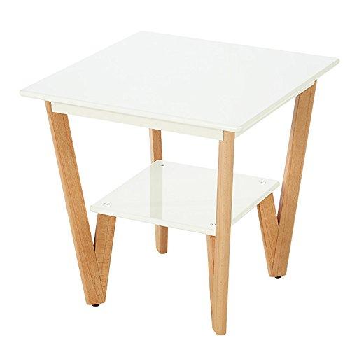 Étagère de rangement Xiaolin Table d'appoint Moderne Minimaliste Salon Canapé Coin Piano Peinture Une Petite Table Basse Nordique Bois Table D'Appoint Carré