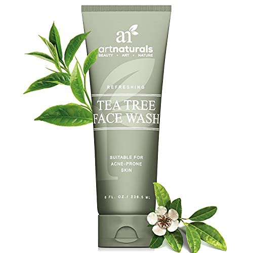 artnaturals Tea Tree Face Wash - (8 Fl Oz / 236ml) - Helps Heal and Prevent Breakouts, Acne and Skin Irritation - Green Tea, 100% Pure Tea Tree Essential Oil, and Aloe Vera