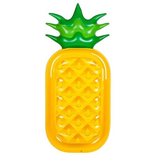 WZXHN 180cm Inflable Gigante Piscina Flotador Colchón Juguetes Sandía Piña Cactus Playa Natación Anillo Fruta Flotador Aire Colchón-piña_A