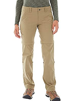Toomett Womens Hiking Stretch Pants Convertible Quick Dry Lightweight Zip Off Outdoor Travel Safari Pants,2192, Khaki,34