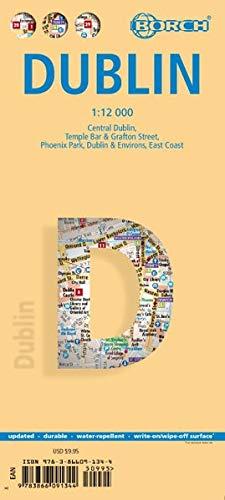 Dublin, Borch Map: Central Dublin, Temple Bar & Grafton Street, Phoenix Park, Dublin & Environs, East Coast
