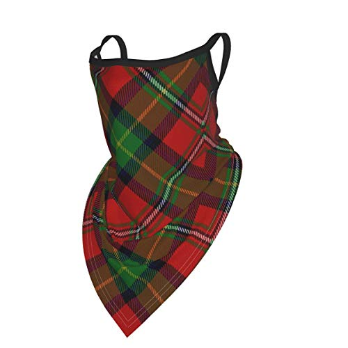 Scots Style Clan Boyd Tartan Plaid Unisex Face Scarf Neck Gaiter With Ear Loops Balaclava Dust Cover Mask With Filter