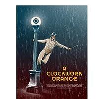 時計じかけのオレンジクラシック映画ポスタープリントアートワークギフト装飾壁アートキャンバス絵画リビングルームの装飾-50x70CMフレームなし
