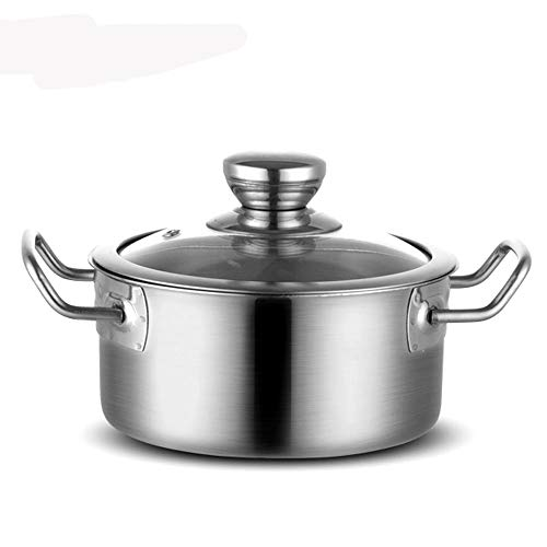XYZMDJ Olla de acero inoxidable para sopa, cacerola, mini olla de cocina, sartenes para restaurante de cocina, fideos de leche (tamaño: A)