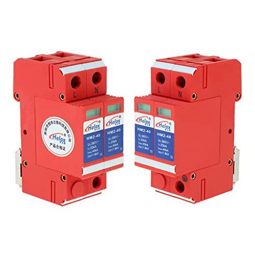 kesoto 4 Unidades Dispositivo Protector Contra Sobretensiones, Material: Plástico y Metal, Voltaje de Entrada: 220V