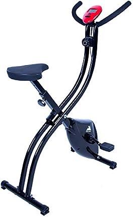 EVOLAND Bicicleta estática Plegable, Bicicleta estática con 8 Niveles de Resistencia, Asiento Ajustable, Pantalla LCD, Bicicleta Interior de Entrenamiento Cardiovascular para Adultos, MXA 120 kg