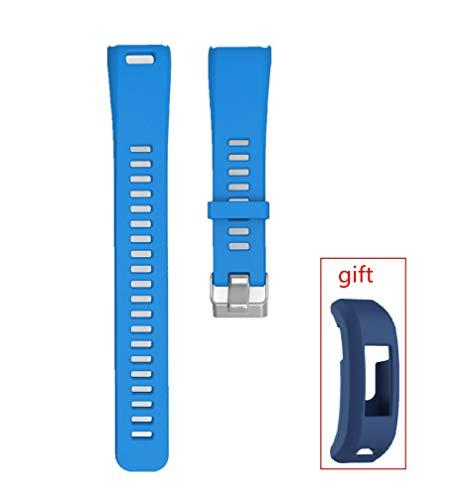 WEINISITE Bracelets pour Garmin Vivosmart HR,Couvercle de Protection pour HR,Souple Silicone Remplacement Bracelets pour Garmin Vivosmart HR Trackers d'activité (Bleu)