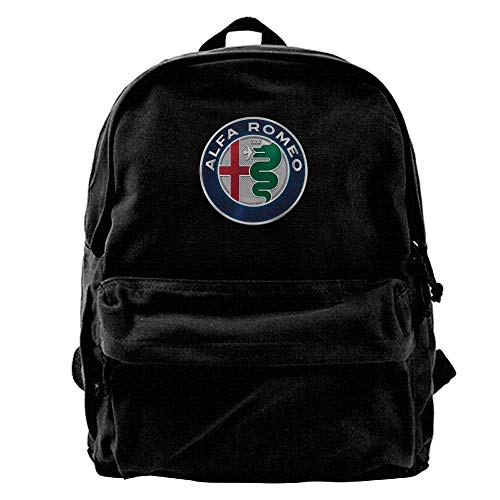 Husimy Mochilas Tipo Casual Alfa Romeo Mens and Womens Canvas Backpack School...