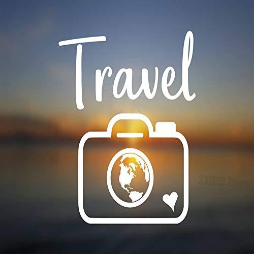 zgldx73 Voyage caméra autocollants vinyle Stickers muraux décoration de la Maison Salon amovible Voiture fenêtre décoration Monde autocollants peinture murale Stickers muraux56X61 cm