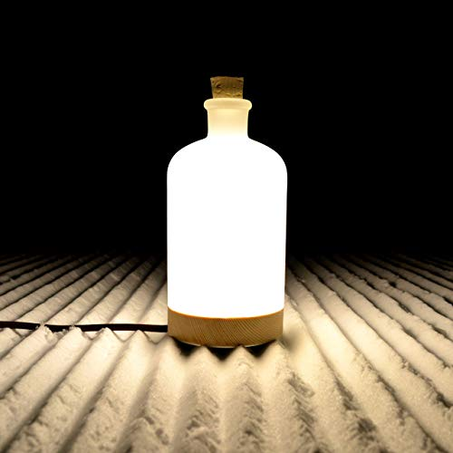 BottleLight-Nachttisch-lampe aus Glas-flasche