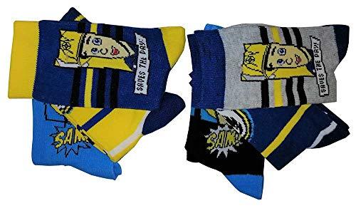 Feuerwehrmann Sam 6er Pack Jungen Socken Saves The Day Grau/Blau für Kinder (27/30)