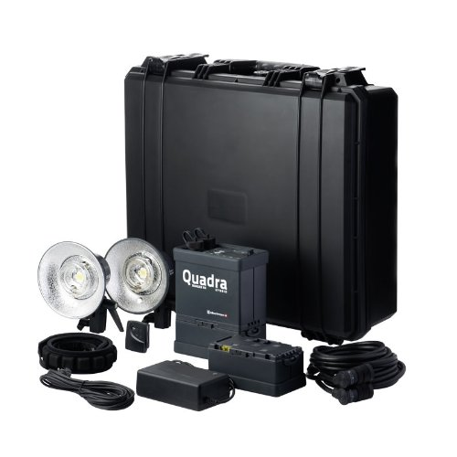 Elinchrom Ranger Quadra RX Hybrid Pro Set A - Kit con generatore, batteria, cavo sincro, caricabatterie, cinghia e torcia