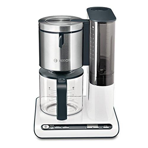 Bosch Styline Cafetera de filtro, 1160 W, 14 Cups, plástico, Blanco/Plata