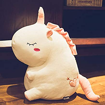 ZSFR Cute Plush Toy Trumpet Unicorn Hugs Girl S Heart Pillow Bed With Doll Girl Birthday Present 48Cm