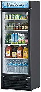 22 Cu.Ft Black Glass Door Cooler Merchandiser