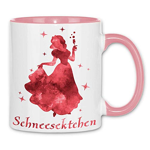 Royal Shirt a64 Tasse Schneesektchen   Sekt Prinzessin Alkohol Party JGA Girly feiern Malle, Farbe :White - Pink
