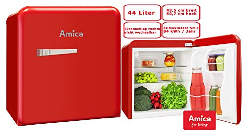 Amica Kühlbox KBR 331 100 R rot Retro Kühl-/Gefrierbox, portabel 5906006904272