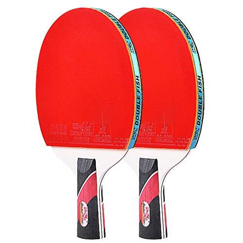 Lerten Palas de Ping Pong,Raquetas Profesional de Entrenamiento de Madera Pura de 7 Capas,Bate de Tenis de Mesa para Actividades Familiares Escuelas Y Clubes Deportivos / 4 Star/A
