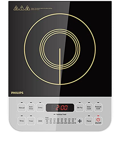 Philips Viva Collection HD4928/01 2100-Watt Induction Cooktop...