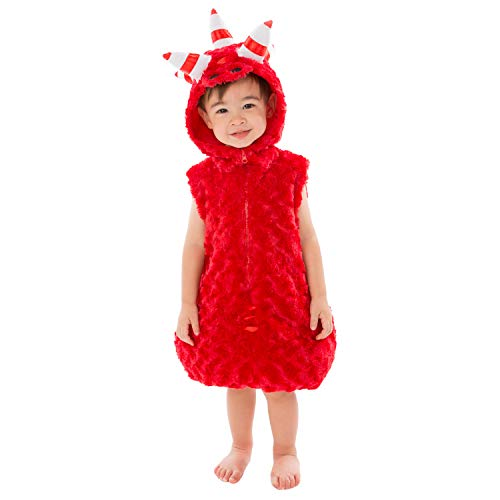 Oddbods Fuse Costume for Boys & Girls - One Piece, One Size Fits Most - Red Character Costume for Kids, Small (Ages 2-4)