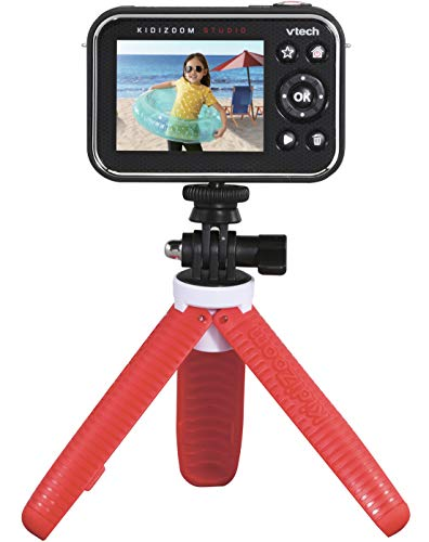 VTech KidiZoom Studio (Red), Video Camera for Children with Fun Games, Kids Camera with Special Effects, Kids Digital Camera with Rechargeable Battery, Action Camera for Boys and Girls from 5 Years +