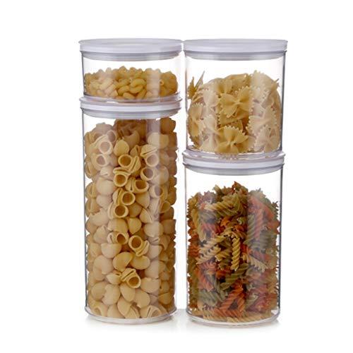 Box Aufbewahrungsbox FüR KüChe VorratsbehäLter FüR Lebensmittel Transparente Dosen Aus Kunststoff - Wiederverwendbar - Leicht Zu Sortierende Lagertanks Set - FüR SchräNke/KüHlschräNke/Geschenke