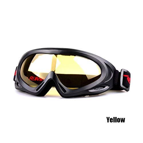 LZQpearl Gafas Nieve Unisex Prueba De Viento, antivaho, antideslumbrante, Anti-Ultravioleta, Anti-Arena, Resistencia Al Impacto, Adecuado para Ciclismo, Motociclismo, Esquí, etc. (Yellow)