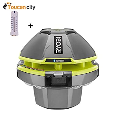 Toucan City Pool Thermometer and RYOBI 18-Volt ONE+ Floating Speaker/Light Show with Bluetooth P3520