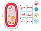 Kiokids Giraga - Bañera plegable con sensor calor, unisex, color rosa