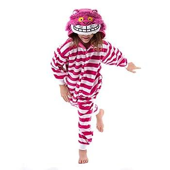 Beauty Shine Unisex Child Cartoon Cheshire Cat Costume Halloween Cosplay Pajamas  Cheshire Cat 8 Years