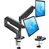 MOUNTUP Dual Monitor Stand, Fully Adjustable Gas Spring Dual Monitor Mount, Monitor Desk Mount with C Clamp, Grommet Mounting Base, Double Monitor Arm for 2 Computer Screen up to 32 Inch, MU0005