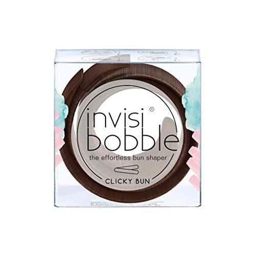invisibobble Clicky Bun Pretzels Brown, pelo nodos sin Moño de Donut