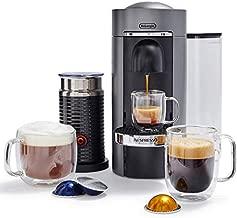 Nespresso by De'Longhi ENV155TAE VertuoPlus Deluxe Coffee and Espresso Machine Bundle with Aeroccino Milk Frother by De'Longhi, Titan