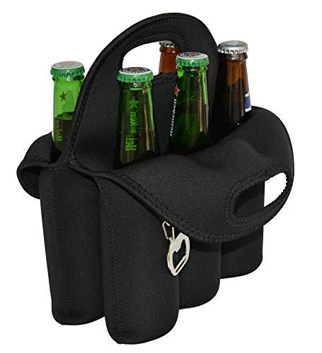 CHILDHOOD 6 Pack Beer Carrier Beer Holder Insulated Neoprene Beer Bottles Carrier Tote 12 oz Beer Bottles Can Cooler Holder