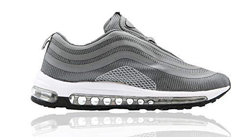 Mapleaf Zapatos Hombres Mujer Botas Running Air Deporte para Correr Zapatillas Deportivas 2213-grigio oscuro-43