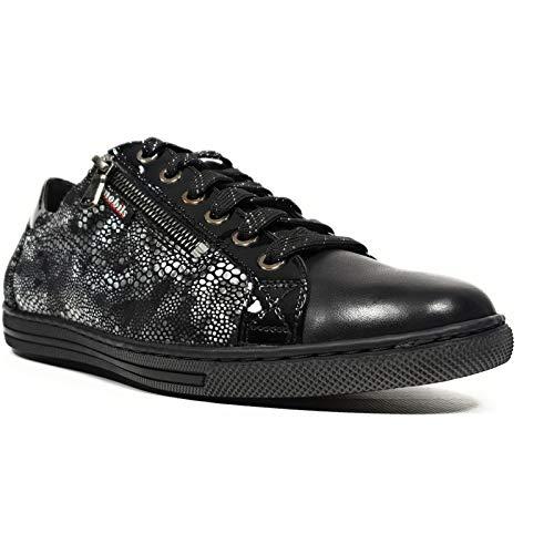 Mobiles Hawai - Zapatillas de Deporte para Mujer (Suela extraíble), Color Negro, Negro (Negro), 40 EU