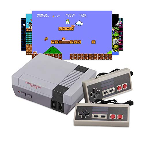 Classic Mini NES Retro Console, AV Output Game Console Built-in 620 Games with 2 Classic Controllers...