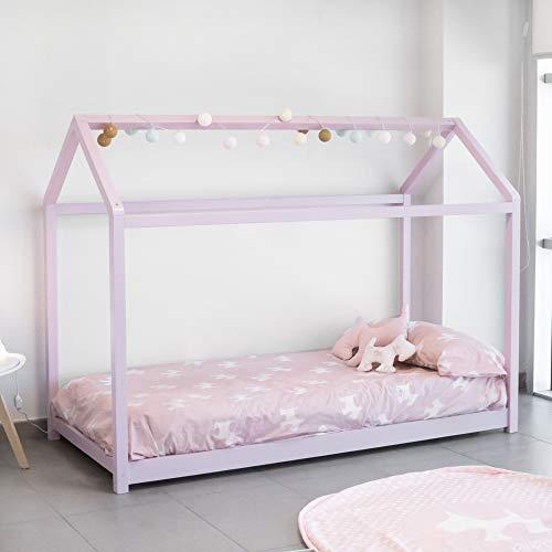 Cama Montessori Rosa para colchón de 90 x 190 cm
