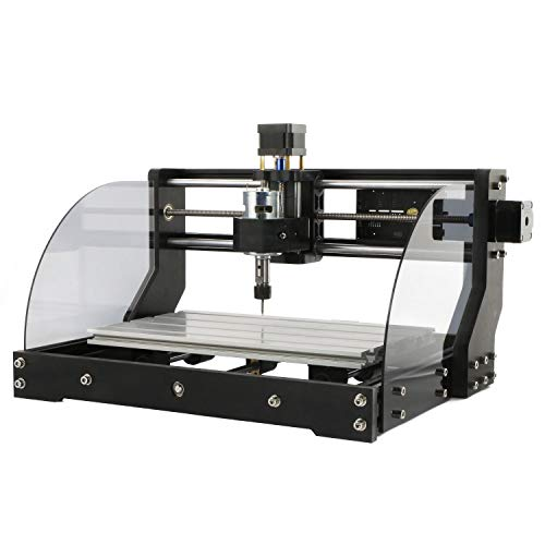 L&Z Upgrade Version CNC Router 3018 Pro Max Engraver Wood Milling Machine, Mac OS/Windows Supported, 3 Axis XYZ Carve, with USB Flash Drive, Instructional Videos and Software Included