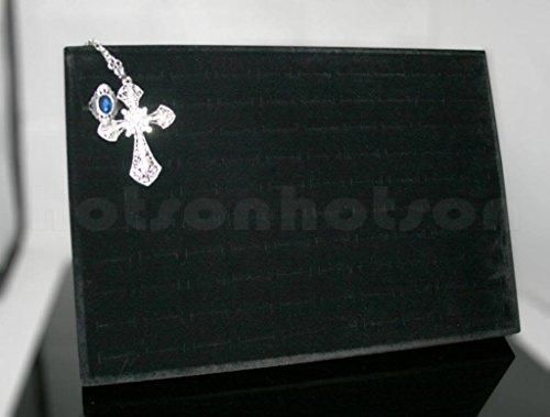 Generic ycuk2_ 150831_ 82< 1& 4881* 1> H Standdisplay Display Karton Aufbewahrungsbox 100Slots Ring Tablett Fall Halter Samt Schmuck mit Ständer 100Slots R