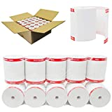 (50 GSM Paper Thickness - Coreless) 3-1/8' x 230' (50 POS Rolls) No Core BPA Free Premium A Grade Point of Sale Thermal Receipt Printer Paper - From BuyRegisterRolls