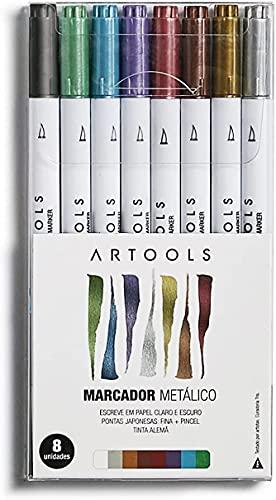 Marcador Metalico 8 cores estojo Artools 689203