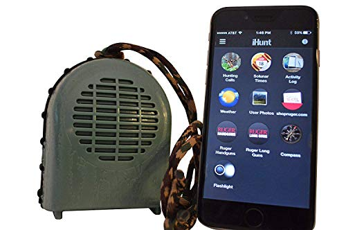 iHunt XSB Electronic Game Call & Bluetooth Speaker Combo, EDIHXSB, FREE App with 750 Game Calls, Compact Rugged Design
